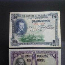 Billetes españoles: LOTE DE 2 BILLETES DE 100 PTAS .... .. ..ES EL DE LAS FOTOS. Lote 198912232