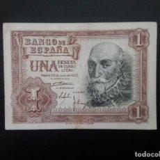 Billetes españoles: BILLETE DE 1 PTA DE 1953.. PRECIOSO . .. .. ..ES EL DE LAS FOTOS. Lote 198912677