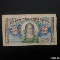 Billetes españoles: BILLETE DE 2 PTAS DE 1938.. REPUBLICA . .. .. ..ES EL DE LAS FOTOS. Lote 198912733