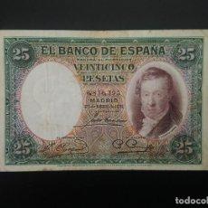 Billetes españoles: BILLETE DE 25 PTAS DE 1931 .. . .. ..ES EL DE LAS FOTOS. Lote 198913195