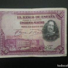 Billetes españoles: BILLETE DE 50 PTAS DE 1928 .. . .. ..ES EL DE LAS FOTOS. Lote 198913402