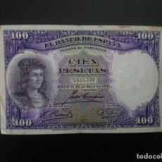 Billetes españoles: BILLETE DE 100 PTAS DE 1931 . . .. ..ES EL DE LAS FOTOS. Lote 198913851