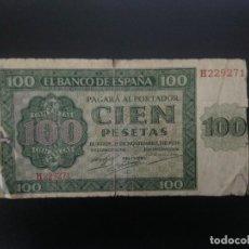 Billetes españoles: BILLETE DE 100 PTAS DE 1936 . . .. ..ES EL DE LAS FOTOS. Lote 198913951