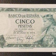 Billetes españoles: BILLETE 5 PESETAS 1954 SIN SERIE 4385941. Lote 198968556