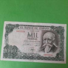 Billetes españoles: SIN SERIE 3455556 1000 PESETAS 1971 17 SEPTIEMBRE ECHEGARAY BANCO ESPAÑA. Lote 199004303