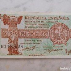 Billetes españoles: BILLETE ESPAÑA. 1 PESETA AÑO 1937 SERIE B. Lote 199144301