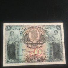 Billetes españoles: 50 PESETAS 1907. Lote 199192571