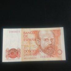 Billetes españoles: 200 PESETAS 1980 SIN SERIE. Lote 199193228