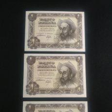 Billetes españoles: TRIO CORRELATIVO 1 PESETA 1951. Lote 199193523