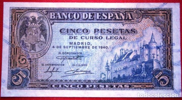 5 PESETAS 1940 VER FOTOS (Numismática - Notafilia - Billetes Españoles)