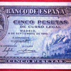 Billetes españoles: 5 PESETAS 1940 VER FOTOS. Lote 199575316
