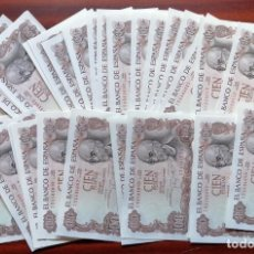 Billetes españoles: LOTE DE 40 BILLETES DE 100 PESETAS. BANCO DE ESPAÑA. 17 NOVIEMBRE DE 1970. MANUEL DE FALLA. Lote 199699888