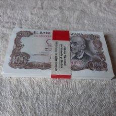 Billetes españoles: FAJO 100 BILLETES SERIE 7E 85497001/500 17 NOVIEMBRE 1970 FALLA FNMT. Lote 200023081