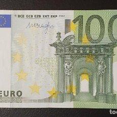 Billetes españoles: BILLETE 100 EUROS 2002 ESPAÑA FIRMA DRAGHI M005B4 . Lote 200103567