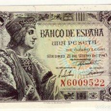 Billetes españoles: RC.- 1 PESETA DE 21 DE MAYO DE 1943.- SC-. Lote 200111663