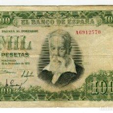 Billetes españoles: 1000 (MIL) PESETAS JOAQUIN SOROLLA MADRID 31 DE DICIEMBRE DE 1951 CIRCULADO. Lote 200300537