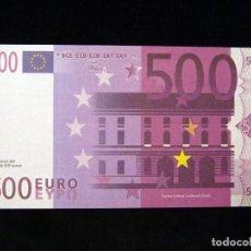 Billetes españoles: BILLETE 500 €, RÉPLICA. EXPOSICIÓN ELS DINERS VAN I VENEN, MUSEO DE PREHISTORIA, VALENCIA, 1998. NU. Lote 200345866