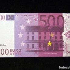 Billetes españoles: BILLETE 500 €, RÉPLICA. EXPOSICIÓN ELS DINERS VAN I VENEN, MUSEO DE PREHISTORIA, VALENCIA, 1998. NU. Lote 200345912