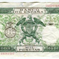 Billetes españoles: 1000 (MIL) PESETAS REYES CATOLICOS MADRID 29 DE NOVIEMBRE DE 1957. Lote 200400052