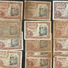 Billetes españoles: LOTE DE 15 BILLETES DE 1 PTS DE 1953 MARQUES DE S. CRUZ. Lote 202273860