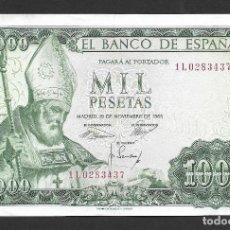 Billetes españoles: 1000 PESETAS 1965 SERIE 1L EBC. Lote 202427638