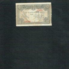 Billetes españoles: BILLETE 10 PTS 1937 BANCO DE BILBAO. Lote 202479557