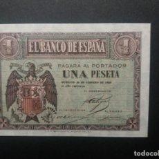 Billetes españoles: BILLETE DE 1 PESETA FEBRERO 1938 SERIE E, SC. PLANCHA RIGUROSA. Lote 202481621