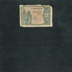 Billetes españoles: BILLETE DE 2 PTS 1938 CATEDRAL BURGOS. Lote 202701270