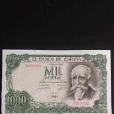 Billetes españoles: SIN SERIE 1000 PESETAS 1971 SC-. Lote 202741442