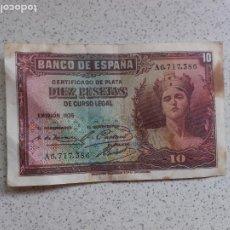 Notas espanholas: 10 PESETAS DE 1935. Lote 202768795