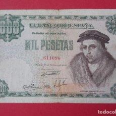 Billetes españoles: BILLETE DE 1000 PESETAS AÑO 1946 - LUIS VIVES - ESTADO ESPAÑOL - CALIDAD MBC ...L953. Lote 203185863