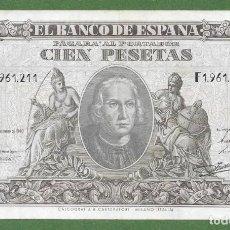 Billetes españoles: BILLETE 100 PESETAS 9 DE ENERO DE 1940, COLON EBC+ ORIGINAL F 211 ¡¡¡¡LIQUIDACION COLECCION!!!!. Lote 203484915