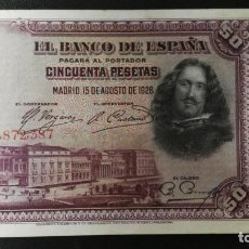 Billetes españoles: 50 PESETAS, SEGUNDA REPUBLICA MADRID 15 DE AGOSTO DE 1928.. Lote 203540748