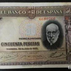 Billetes españoles: BILLETE BANCO DE ESPAÑA .- 50 PESETAS 1935.. Lote 203541062