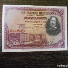 Billetes españoles: ESPAÑA-BILLETE 50 PESETAS-1928-SERIE B-MBC. Lote 203563286