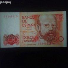 Billetes españoles: 200 PTAS DE 1980.. SERIE L.. . SIN CIRCULAR . - . . .. ES EL DE LAS FOTOS. Lote 203822931