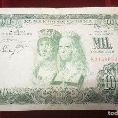 Notas espanholas: ESPAÑA 1000 PESETAS REYES CATÓLICOS 1957 PICK 149 SERIE K. Lote 203910485