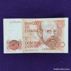 Notas espanholas: BILLETE DE 200 PESETAS. 1980. SIN SERIE. ORIGINAL.. Lote 204014231