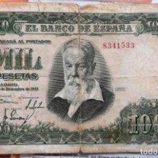 Billetes españoles: BILLETE DE MIL PESETAS - JOAQUIN SOROLLA 31 DICIEMBRE 1951. Lote 204547997