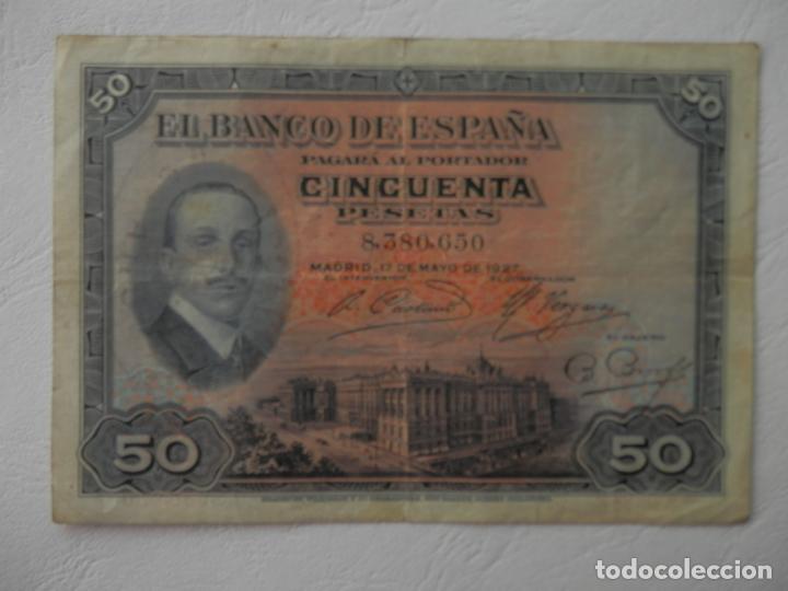 50 PESETAS - MADRID, 17 DE MAYO DE 1927 - VER FOTOS Y DESCRIPCION (Numismática - Notafilia - Billetes Españoles)