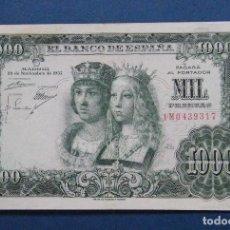 Billetes españoles: ESTADO ESPAÑOL BILLETE DE 1.000 PESETAS 1957. Lote 204684287