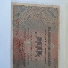Billetes españoles: EBC+/-SC RÍGIDA PRESTANCIA BURGOS 20 MAYO 1938 MIL PESETAS. NUMISMÁTICA COLISEVM A2765046. Lote 204759855
