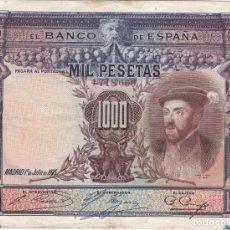 Notas espanholas: BILLETE DE ESPAÑA DE 1000 PESETAS DEL AÑO 1925 DEL REY CARLOS I. Lote 205034737