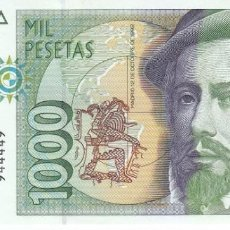 Billetes españoles: ¡CAPICUA! BILLETE DE 1000 PESETAS DEL AÑO 1992 DE PIZARRO SIN SERIE - SIN CIRCULAR (SC) 944449. Lote 205038563