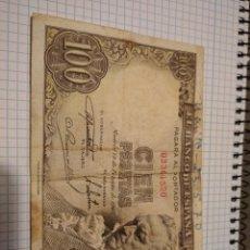 Notas espanholas: BILLETE CIEN PESETAS FEBRERO 1946 GOYA SIN SERIE. Lote 205070923