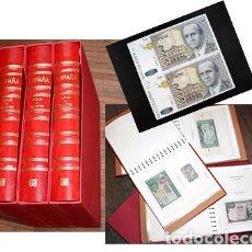 Billetes españoles: COLECCIÓN 84 BILLETES ESPAÑA, 3 ÁLBUMES EDIFIL DE LUJO. PIEZAS IMPORTANTES EN EXCELENTE CONSERVACIÓN. Lote 205553723