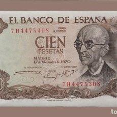 Billetes españoles: ESPAÑA 100 PESETAS 1970 S/C. Lote 205785577