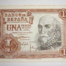 Billetes españoles: 1 PESETA. 1953. MARQUÉS DE SANTA CRUZ. SERIE Z.. Lote 206209872
