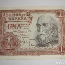 Billetes españoles: 1 PESETA. 1953. MARQUÉS DE SANTA CRUZ. SERIE Z.. Lote 206210002