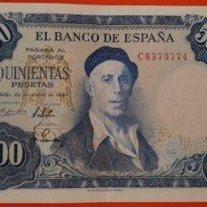 Billetes españoles: BILLETE 500 PESETAS 1954 SC. Lote 206308257